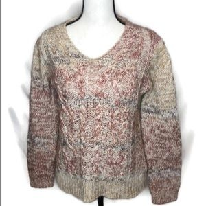 Anthropology Elsamanda Cable Knit Sweater. Size L.